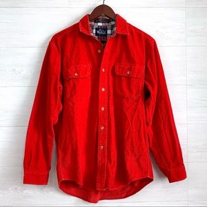 Woolrich Corduroy Button Up Flannel Lined Top